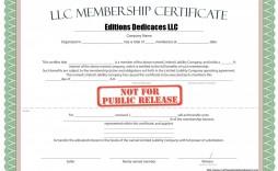 000 Phenomenal Llc Membership Certificate Template Inspiration  Interest Free Member