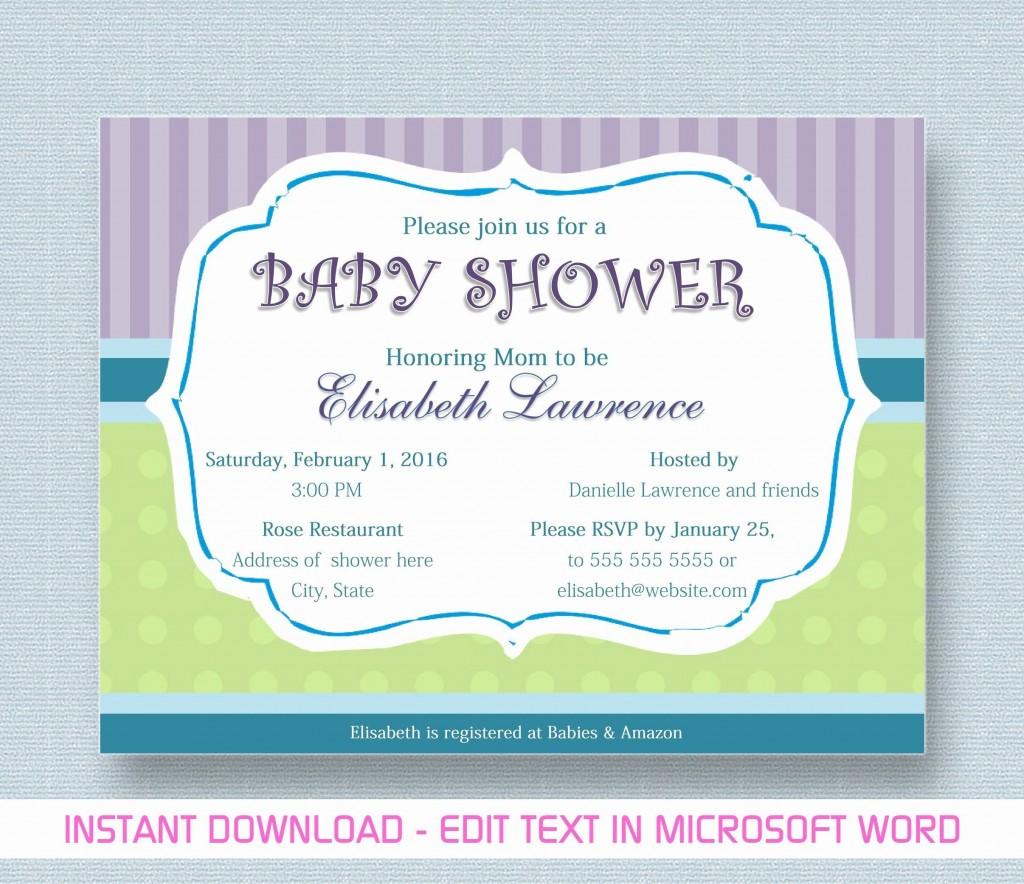 000 Phenomenal Microsoft Word Invitation Template Baby Shower Design  Free Editable InviteLarge
