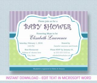 000 Phenomenal Microsoft Word Invitation Template Baby Shower Design  M Invite Free320