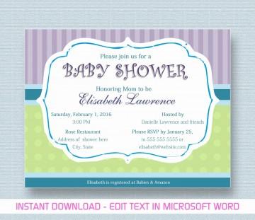 000 Phenomenal Microsoft Word Invitation Template Baby Shower Design  M Invite Free360