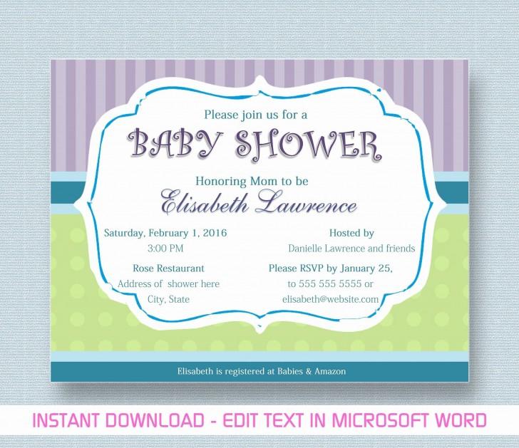 000 Phenomenal Microsoft Word Invitation Template Baby Shower Design  M Invite Free728