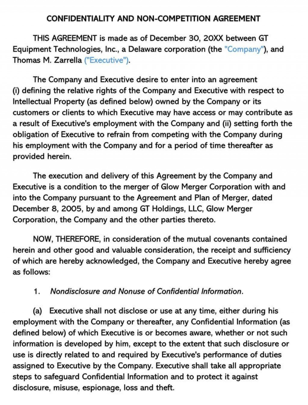 000 Phenomenal Non Compete Agreement Template California Highest Quality Large