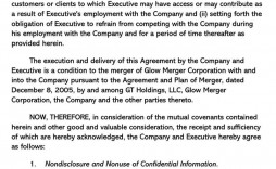 000 Phenomenal Non Compete Agreement Template California Highest Quality