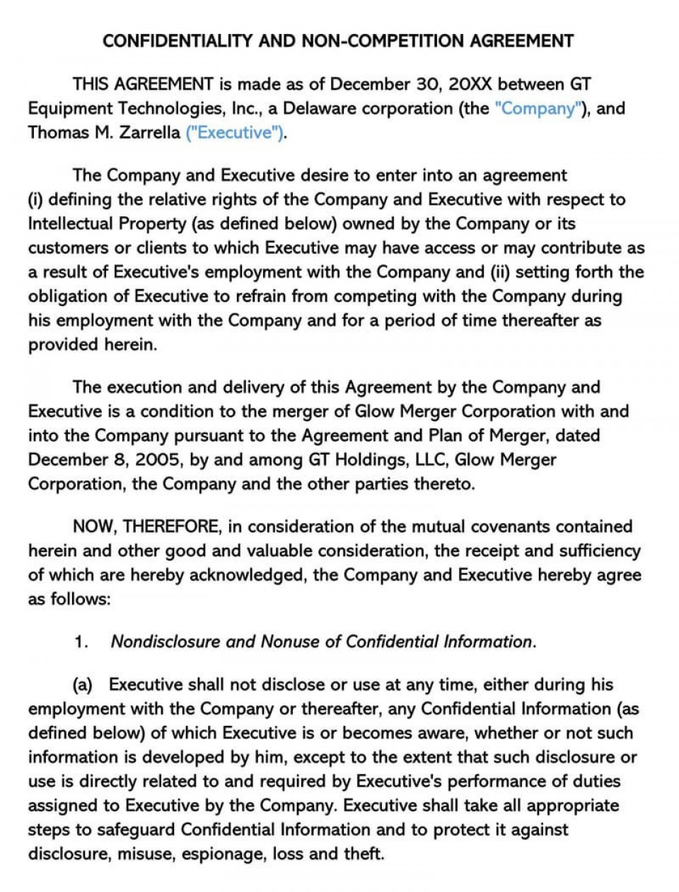 000 Phenomenal Non Compete Agreement Template California Highest Quality 960