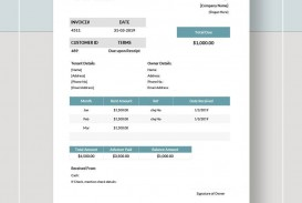 000 Phenomenal Rent Receipt Template Google Doc Highest Clarity  Rental Invoice