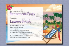 000 Phenomenal Retirement Invitation Template Free Inspiration  Party Printable For Word