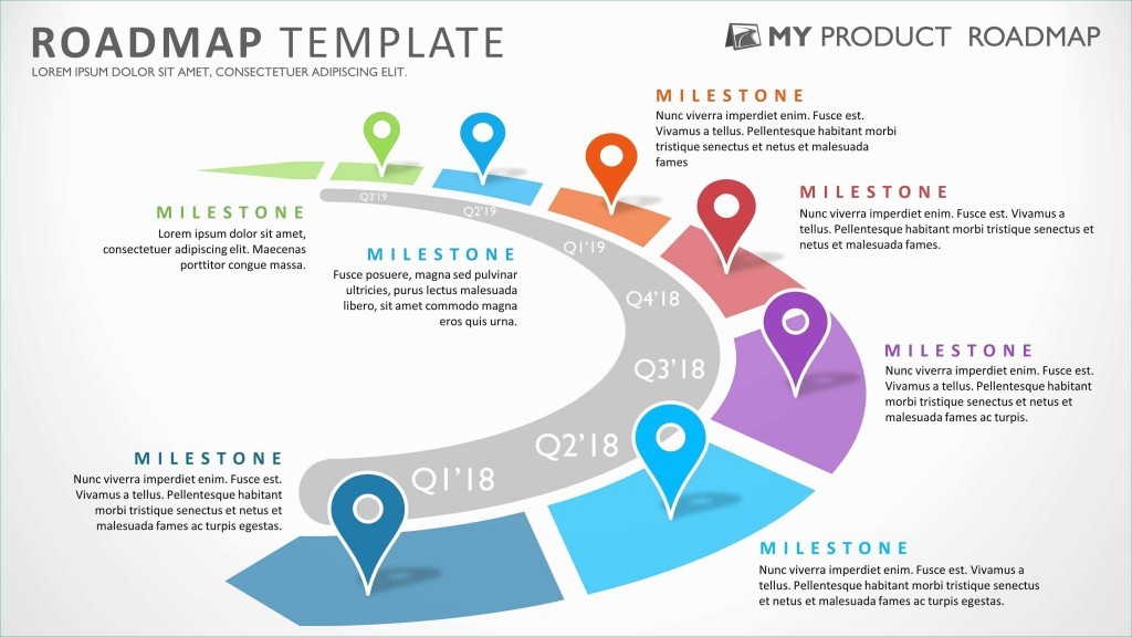 000 Phenomenal Road Map Template Powerpoint High Resolution  Roadmap Ppt Free Download ProductLarge