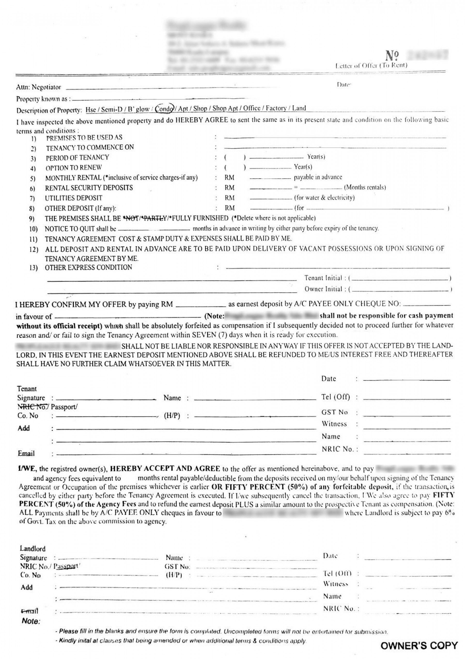 000 Phenomenal Room Rental Agreement Template Word Doc Malaysia Example 1920