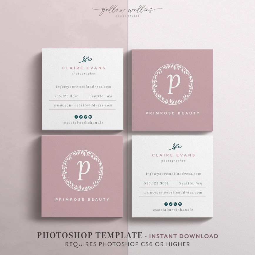 000 Phenomenal Square Busines Card Template Sample  Moo Download Psd Free