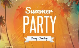000 Phenomenal Summer Party Flyer Template Free Download Photo