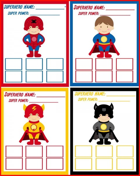 000 Phenomenal Superhero Invitation Template Free High Def  Birthday Party480