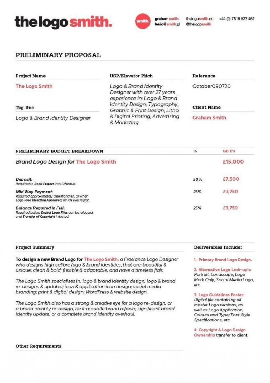 000 Phenomenal Web Design Proposal Template Free Download High Def Large