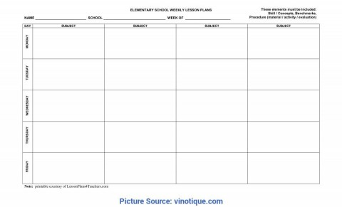 000 Phenomenal Weekly Lesson Plan Template High School Example  Free For Math History480