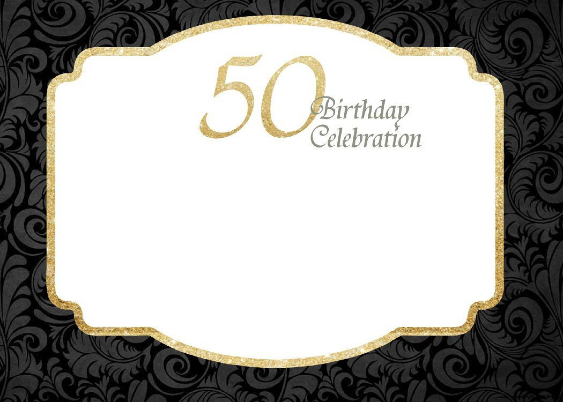 000 Rare 50th Birthday Invitation Template Idea  For Him Microsoft Word Free1920