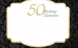 000 Rare 50th Birthday Invitation Template Idea  For Him Microsoft Word Free