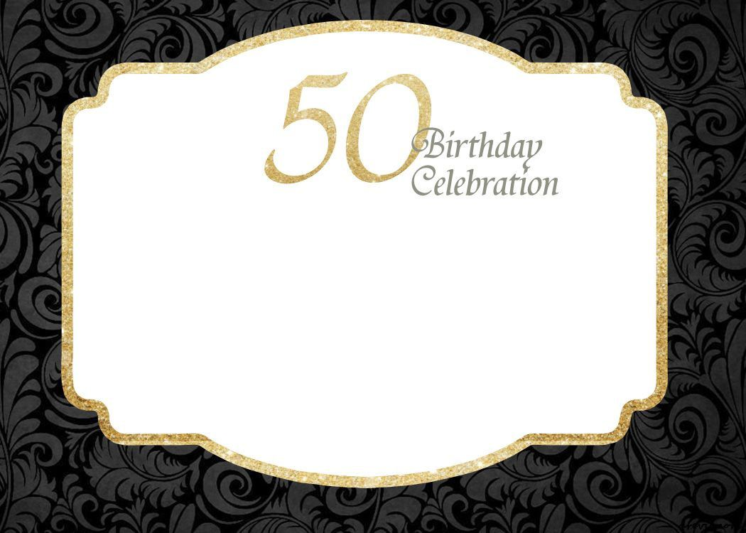 000 Rare 50th Birthday Invitation Template Idea  For Him Microsoft Word FreeFull
