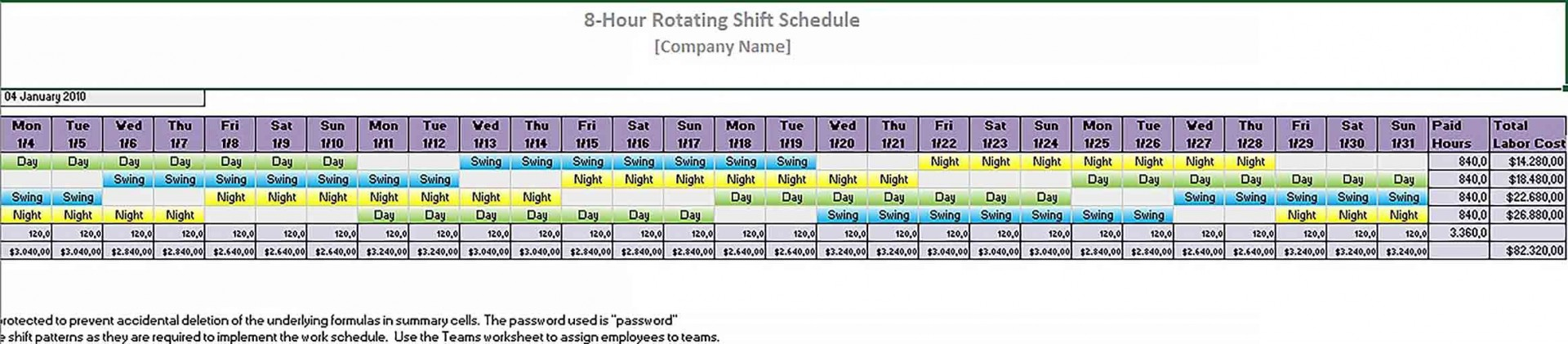 000 Rare 8 Hour Shift Schedule Template Sample  Best Rotating Example Work Day1920
