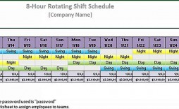 000 Rare 8 Hour Shift Schedule Template Sample  Best Rotating Example Work Day