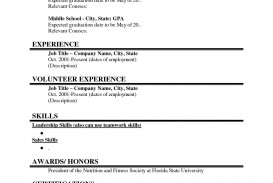 000 Rare Basic Student Resume Template Picture  Simple Word High School Australia Google Doc
