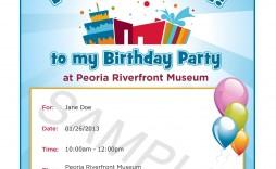 000 Rare Birthday Invite Template Word Free Concept  Party Invitation