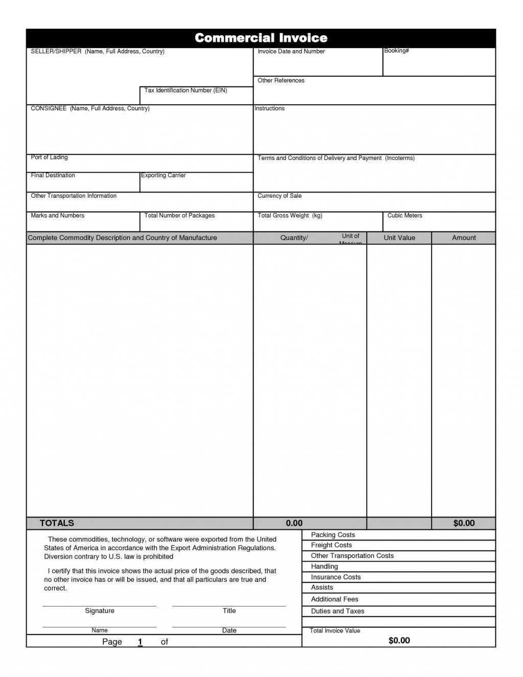 000 Rare Commercial Invoice Template Excel Highest Quality  Free DownloadLarge