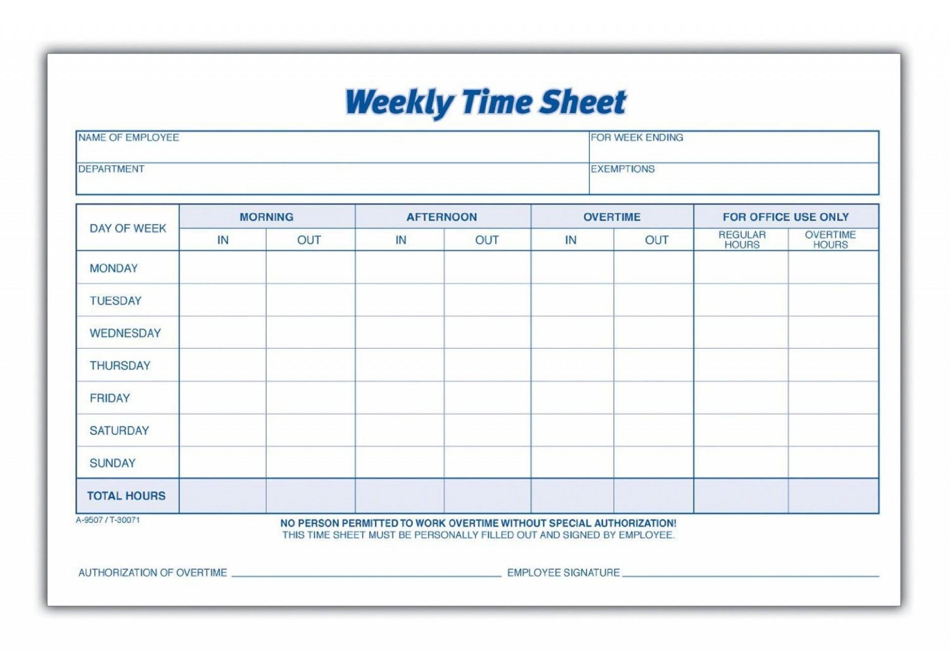 000 Rare Employee Time Card Printable Sample  Timesheet Template Excel Free Multiple Sheet1920
