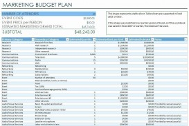 000 Rare Event Budget Template Excel High Def  Download 2010 Planner