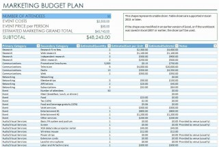 000 Rare Event Budget Template Excel High Def  Download 2010 Planner320