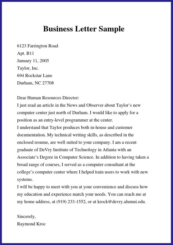 000 Rare Formal Busines Letter Template Concept  Pdf Australia FormatLarge