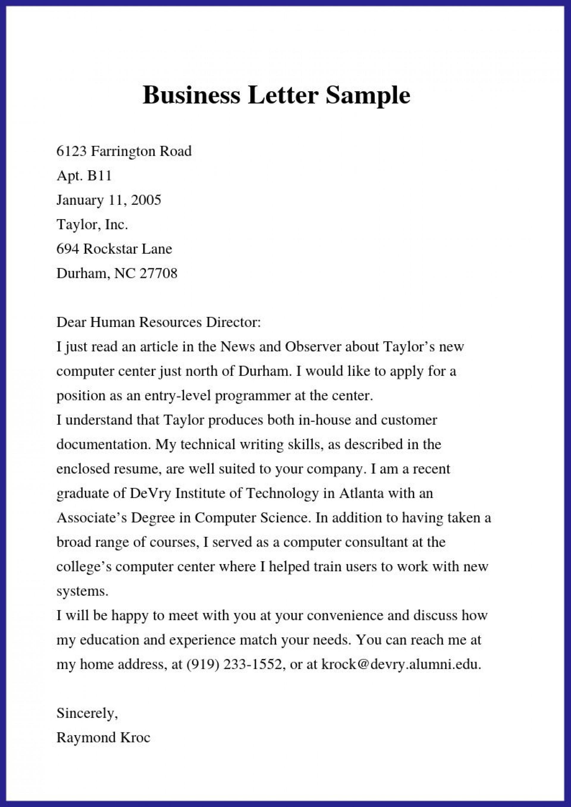 000 Rare Formal Busines Letter Template Concept  Pdf Australia Format1920