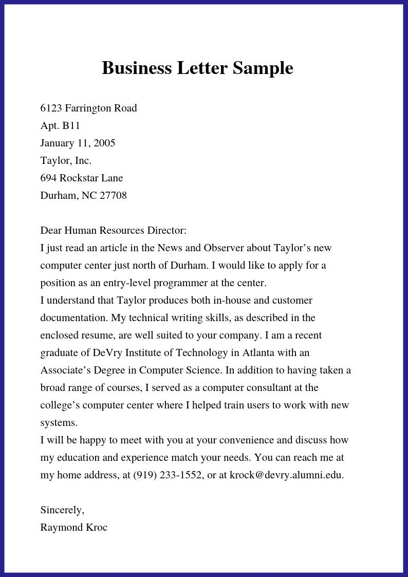 000 Rare Formal Busines Letter Template Concept  Pdf Australia FormatFull