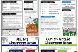 000 Rare Free Teacher Newsletter Template Idea  Classroom For Microsoft Word Google Doc