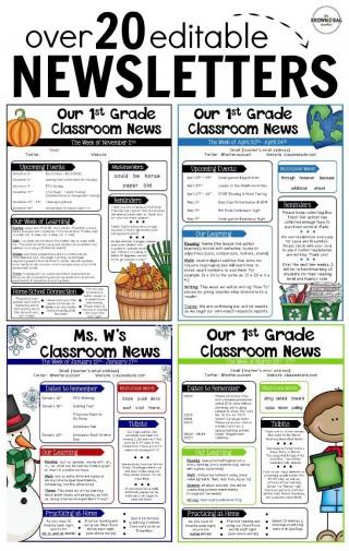 000 Rare Free Teacher Newsletter Template Idea  Classroom For Microsoft Word Google Doc320