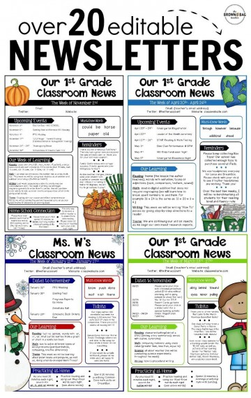 000 Rare Free Teacher Newsletter Template Idea  Classroom For Microsoft Word Google Doc360