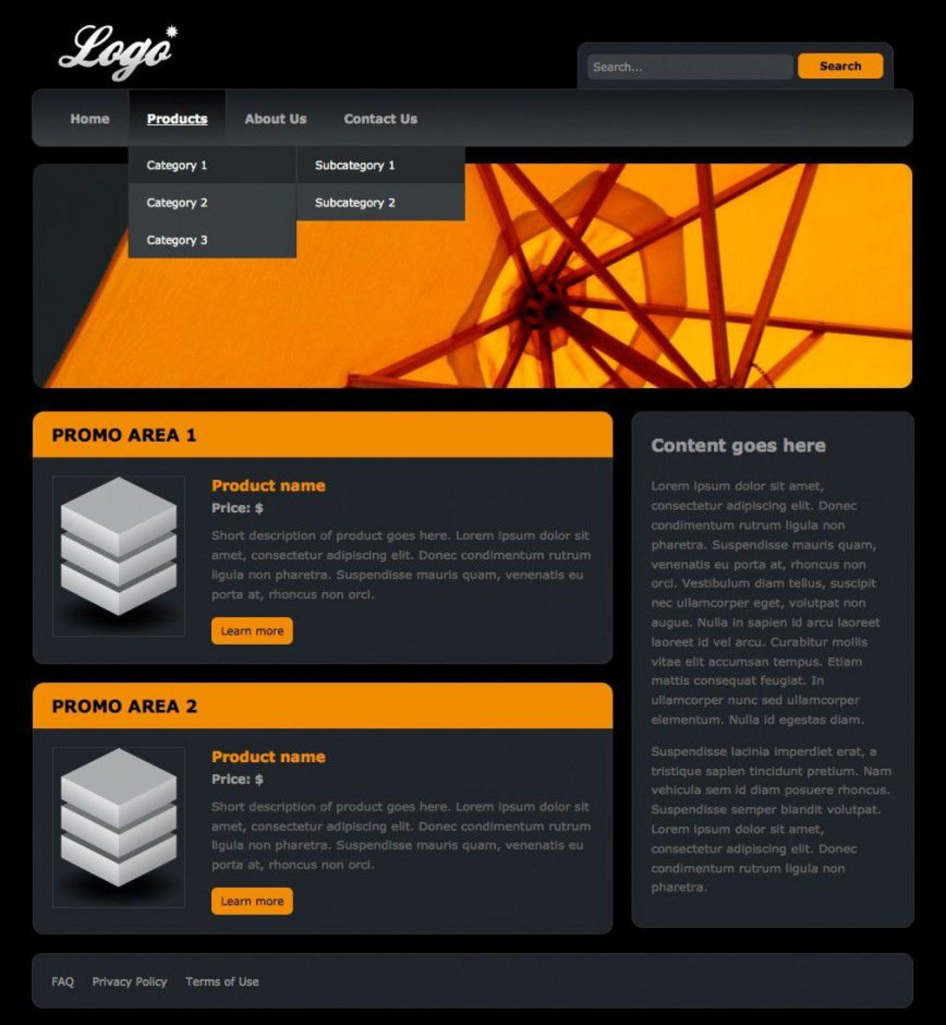 000 Rare Free Website Template Dreamweaver Design  Ecommerce Download Construction Html1920