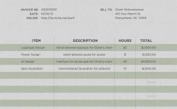 000 Rare Freelance Designer Invoice Template Example  Web Creative Uk
