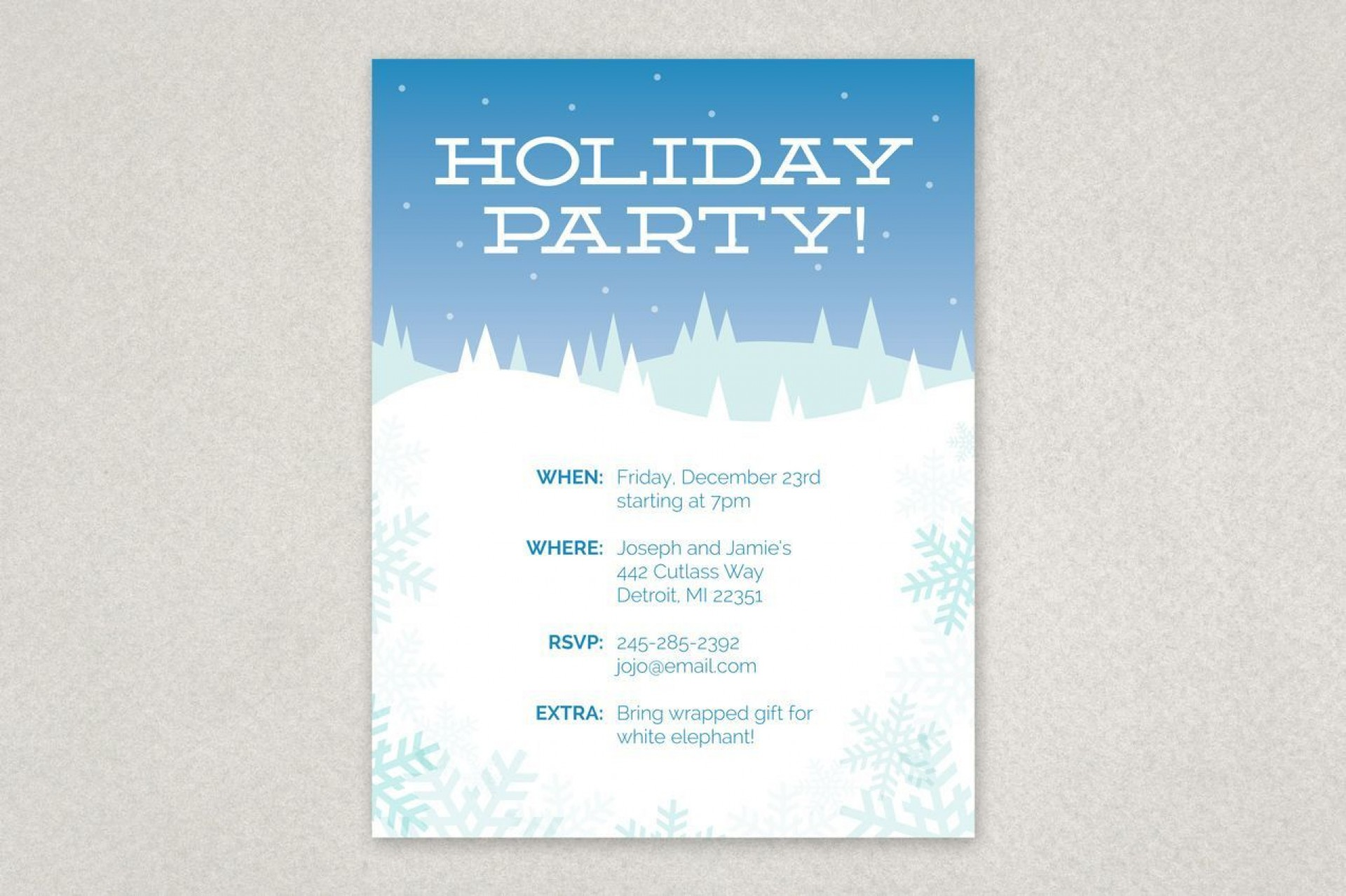 000 Rare Holiday Party Flyer Template Free Design  Office1920