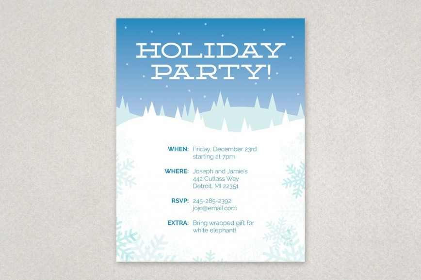 000 Rare Holiday Party Flyer Template Free Design  Company Christma