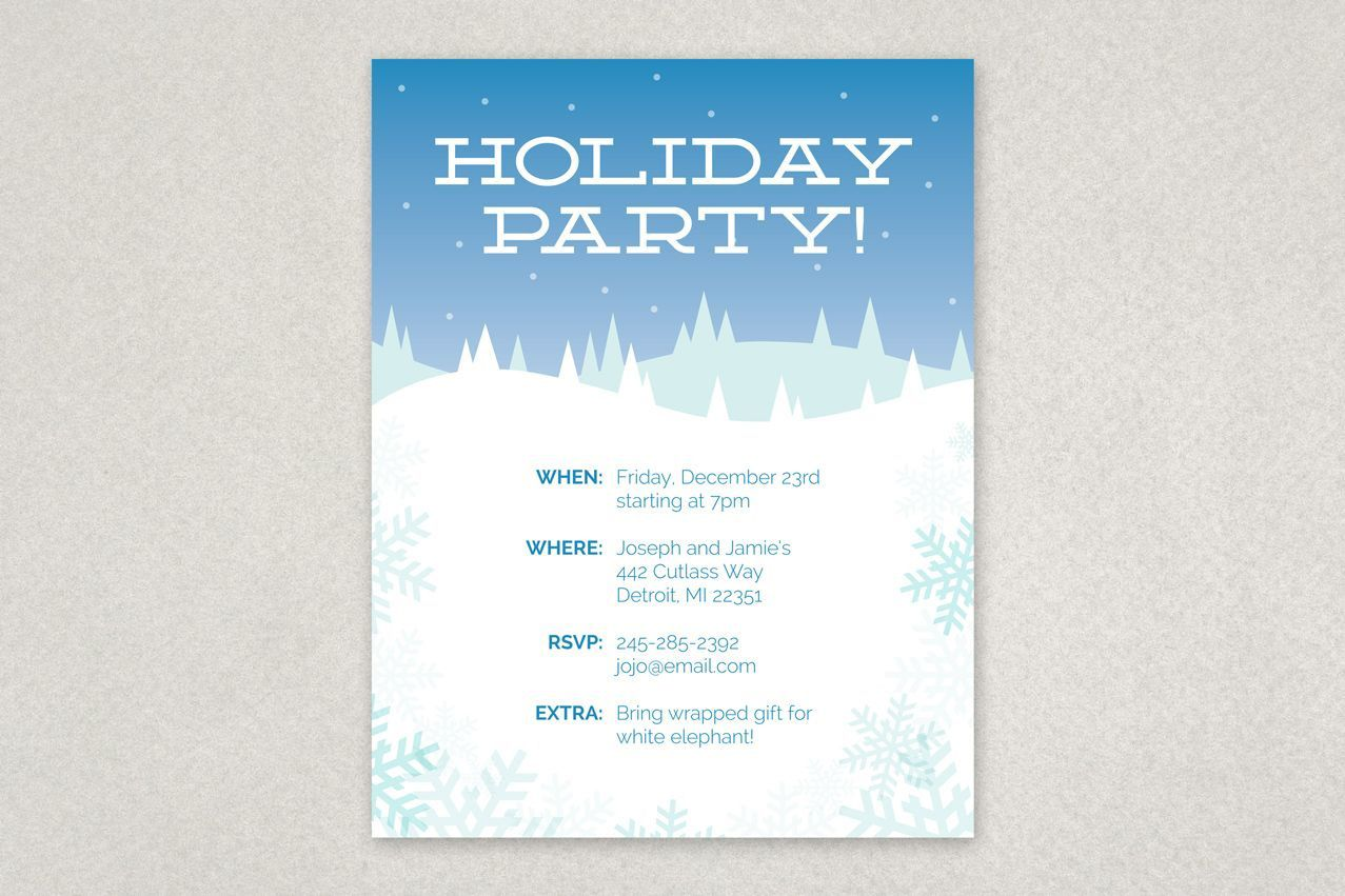 000 Rare Holiday Party Flyer Template Free Design  OfficeFull