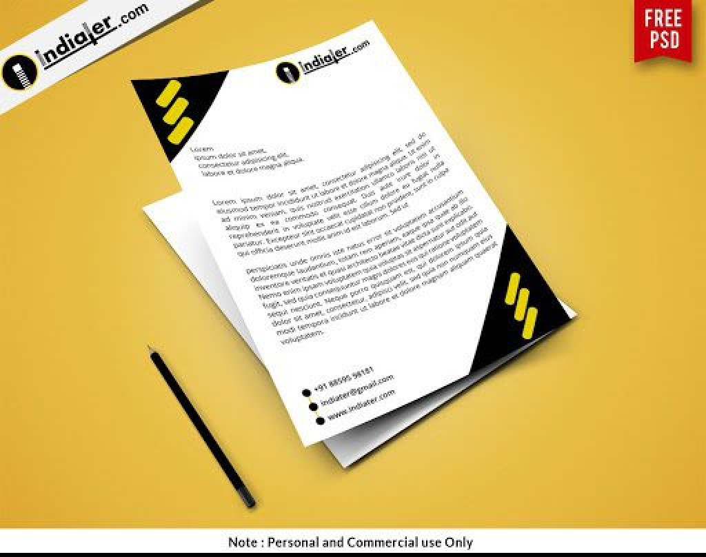 000 Rare Letterhead Template Free Download Psd Design  Corporate A4Large