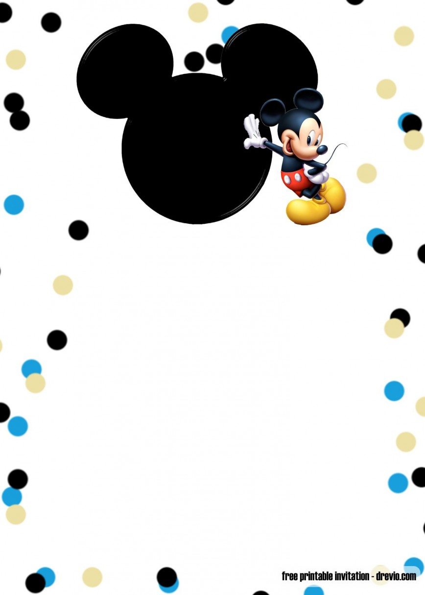 000 Rare Mickey Mouse Invitation Template Highest Quality  Templates Free Download 1st Birthday Party Maker
