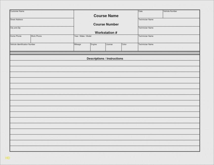000 Rare Microsoft Excel Auto Repair Invoice Template Image