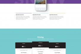 000 Rare One Page Website Template Html5 Responsive Free Download Image