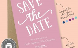 000 Rare Save The Date Template Word Inspiration  Free Customizable For Holiday Party