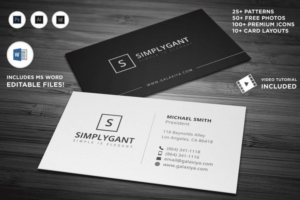 000 Rare Simple Busines Card Template Microsoft Word Photo Large