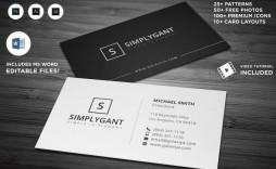 000 Rare Simple Busines Card Template Microsoft Word Photo