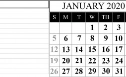 000 Remarkable 2020 Blank Calendar Template High Definition  Printable Monthly Word Downloadable With Holiday