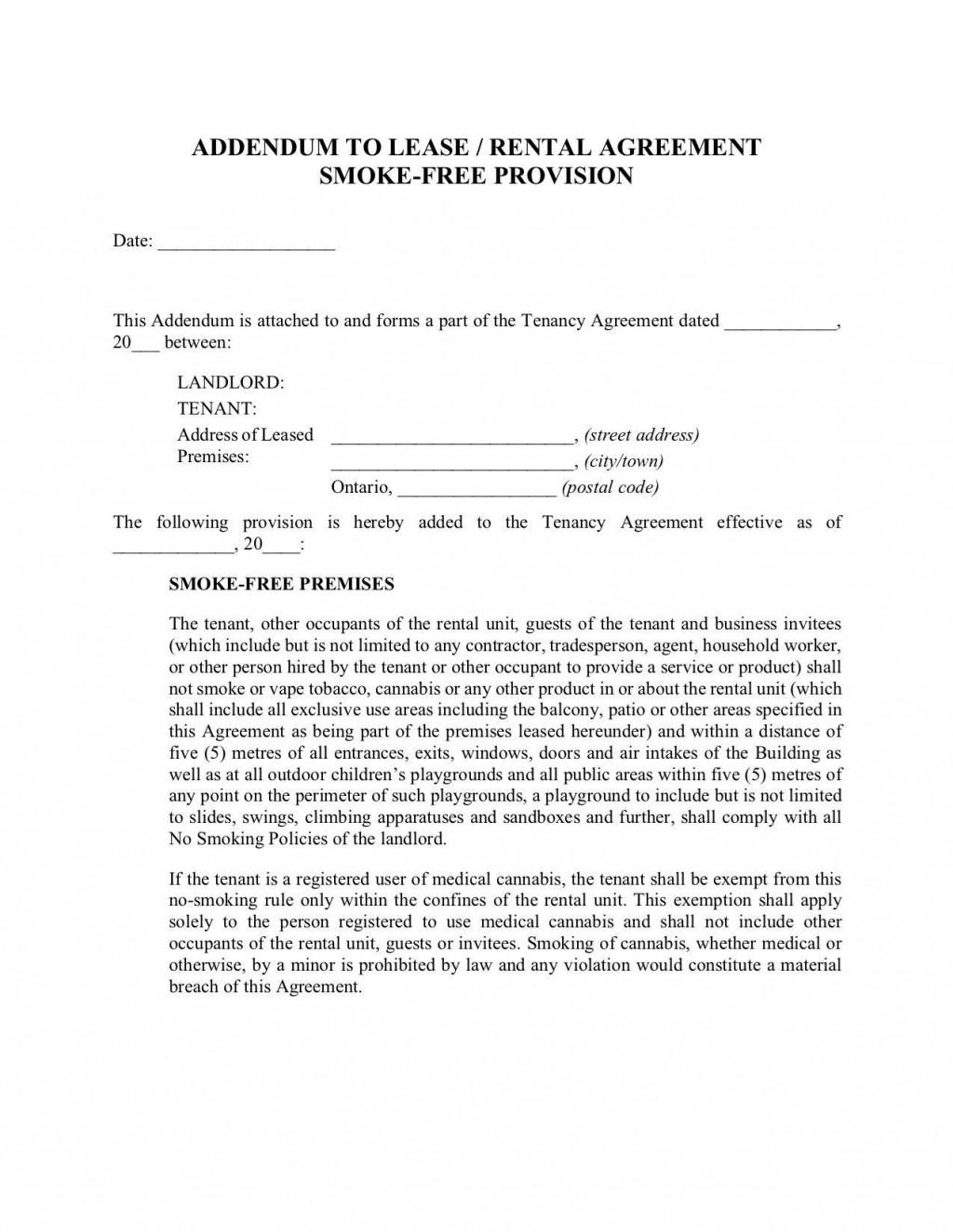 000 Remarkable Addendum Form For Rental Agreement Photo Large