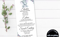 000 Remarkable Baby Shower Menu Template High Def  Templates Lunch Printable Downloadable