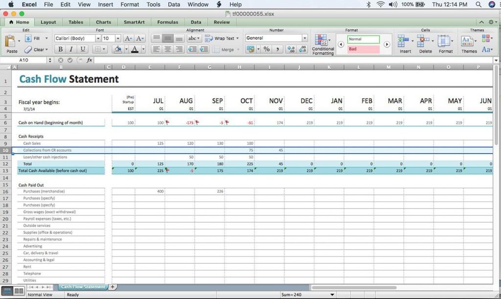 000 Remarkable Cash Flow Sample Excel Photo  Spreadsheet Free Forecast TemplateLarge